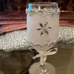 Handmade wine glass